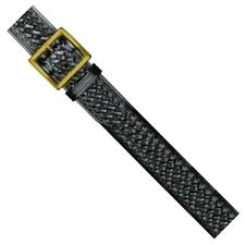"Dutyman 1.75"" Black Belt, Baskeweave, Gold Buckle"