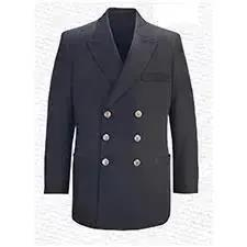 Flying Cross Dress Coat Poly/Wool N.O. Blue