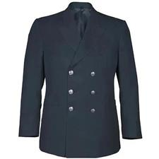 Anchor Dress Coat, Class A Dbl Breasted, Black, Poly/Wool