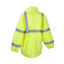 Rain Jacket, ANSI Class 3 Waterproof Lime
