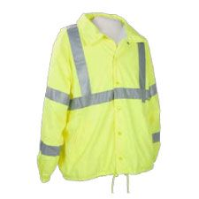Windbreaker Jacket, Class 3 ANSI Water Repellent Lime
