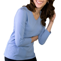Blue Generation Ladies 3/4 Sleeve V-neck