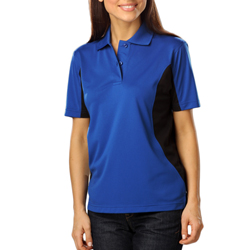 Blue Generation Ladies Snap Resist Colorblock Polo