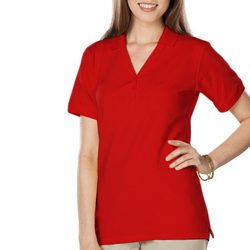 Blue Generation Ladies Soft Touch SS Y-Placket Polo