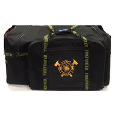 "Firefighter Gear Bag, Black, 32""L x 17""H x 16""D"