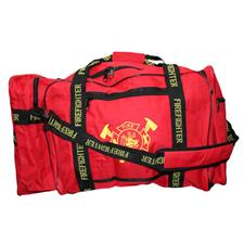 "Firefighter Gear Bag, Red 32""L x 17""H x 16""D"