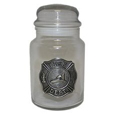 "Great American Products Candy Jar, w/ Lid ""Fire Dept"""