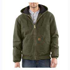 Carhartt,Quilted-Flannel-Lined Jacket Army Green