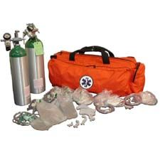 NAFECO Oxygen Kit w/ Bag  & 'D' Cylinder, Orange