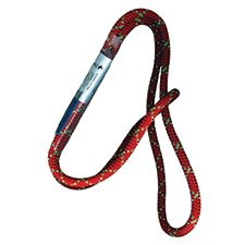 "PMI Sewn Prusik Cord, 8mm Red 16"" Long"