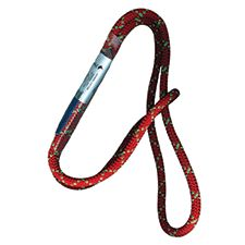 "PMI Sewn Prusik Cord Loop  - 22"" Long-8mm-Red"