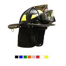 LION American Heritage Leather Helmet w/ ESS FirePro Goggles