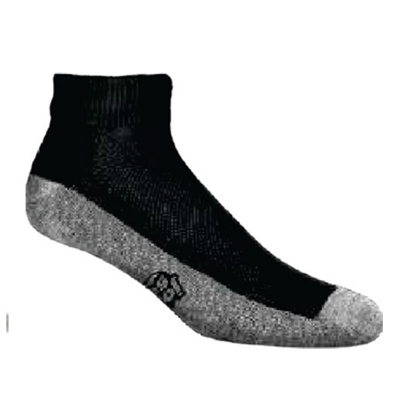 JoxSox Socks, Mens Black Quarter Crew