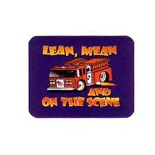 "Firehouse Decals Mouse Pad, ""Lean, Mean & on the Scene"""