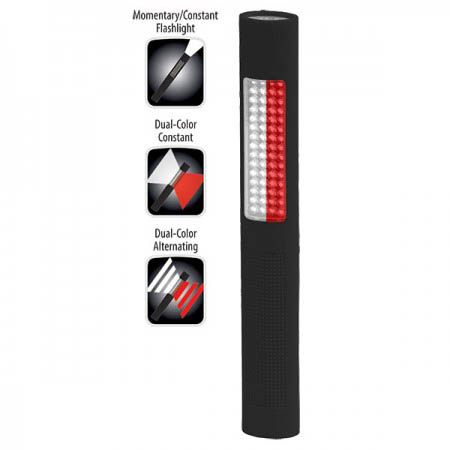 Nightstick Multipurpose Safety Flashlight with Red-White LEDs