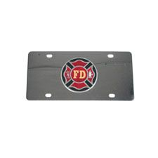Car Tag, Stainless Steel w/FD Maltese Cross