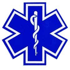 Pacific Reflex Decal, Star Of Life 4""