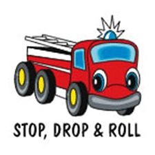 "STOP, DROP & ROLL 2"" TEMPORARY TATTOO"