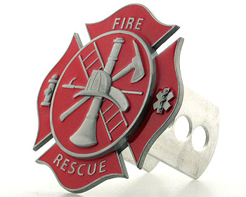 Fire Rescue Maltese Cross Hitch Cover, Fits Class II,III
