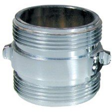 CHROME DOUBLE MALE ADAPTER,ROCKER LUGS
