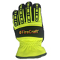 Firecraft Barrier Extrication Glove, FL Yellow, OSHA
