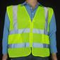 Hi-Viz Safety Vest, ANSI Class II, Zipper Front